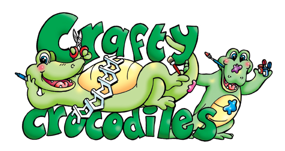 cartoon character developed for Crafty Crocodiles web site - a site where you can purchase craft product.